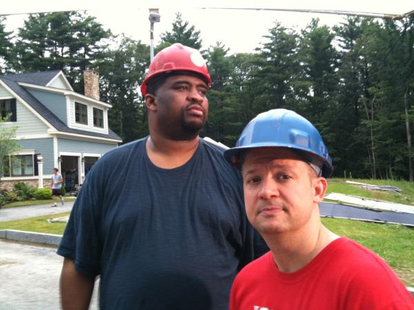 Patrice on set with Jim Norton,  Furry Vengence