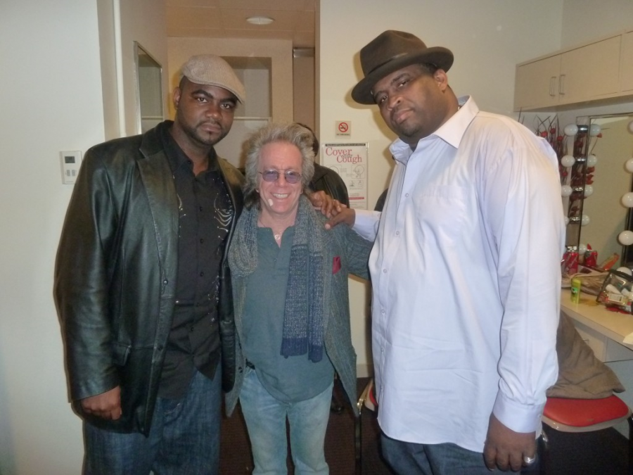 Patrice with Harris Stanton and Jeffrey Gurian.  Taping of Patrice's HBO Special.