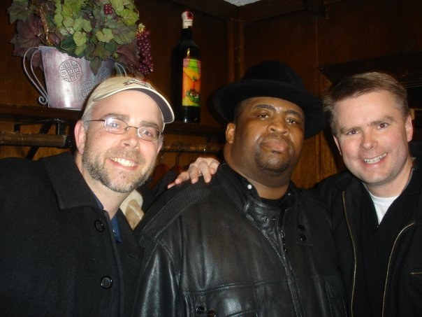 This picture was taken in Danbury CT at a comedy show with my brother (Chris and Charlie)....he was a good man (and funny as hell)....