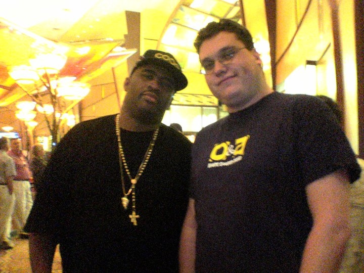 Patrice with Michael Broder: Saw him 7 times, luckily got to spend a couple minutes talking to him and took this picture....  Patrice will always be remembered by me and those I know.