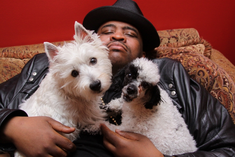 Patrice with Gladys & Dude