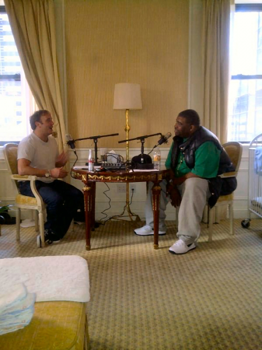 Patrice with Jay Mohr.  This was Patrice's Final Podcast Appearance