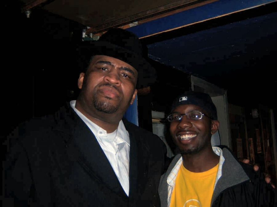 Sam with Patrice: This is a pic of me and Patrice when he came to Ann Arbor, MI a few years ago . One of the best stand up shows I ever saw.
