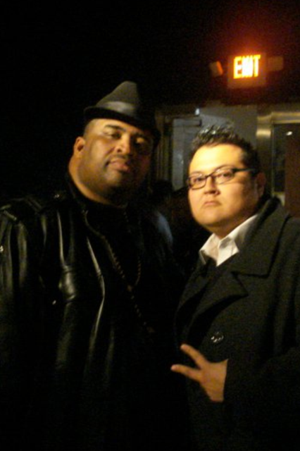 Dave Vega with the GREAT Patrice O'Neal, Feb. 2011.